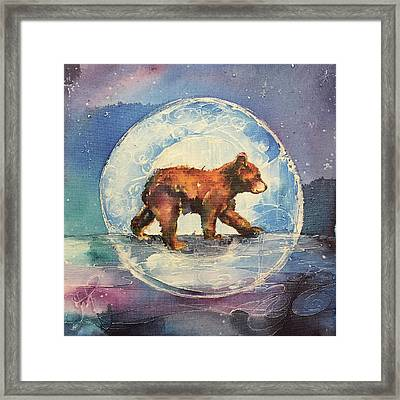Framed Print featuring the painting Cubbie Bear by Christy Freeman
