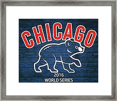 Cubbies Graphic Barn Door 2016 Framed Print
