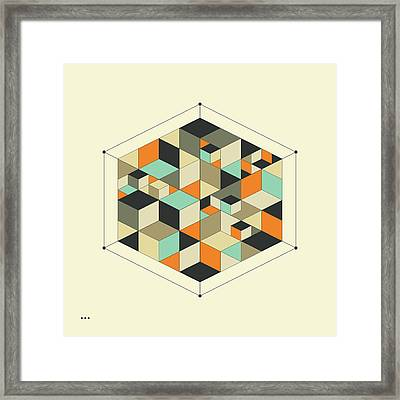 Cube 1 Framed Print by Jazzberry Blue