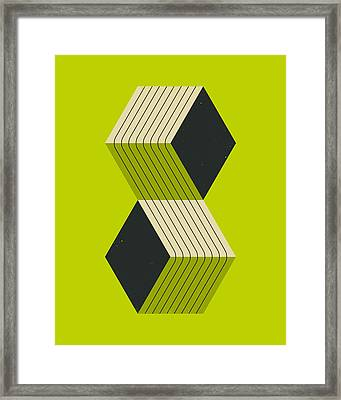 Cube 8 Framed Print by Jazzberry Blue