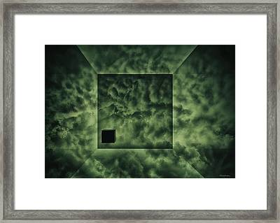 Cube And Clouds Framed Print