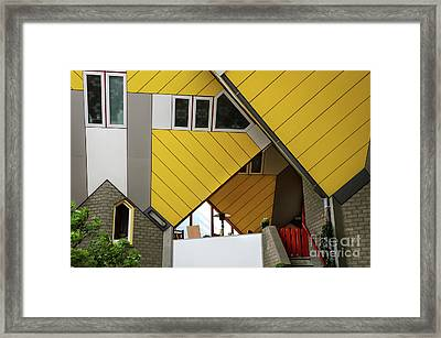 Framed Print featuring the photograph Cube Houses Detail In Rotterdam by RicardMN Photography