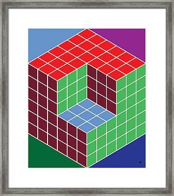 Cubecorner Framed Print