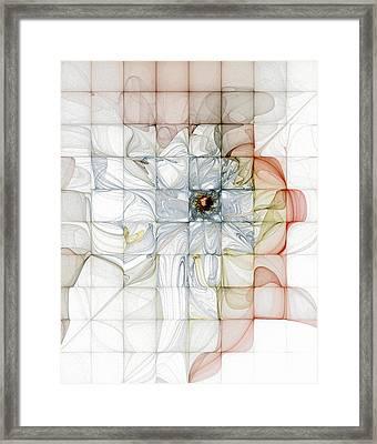 Cubed Pastels Framed Print