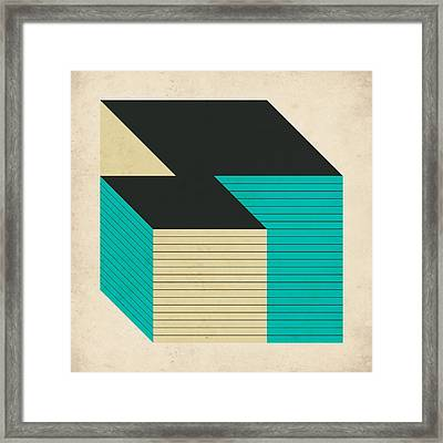 Cubes 12 Framed Print
