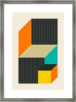 Cubes 6 Framed Print by Jazzberry Blue