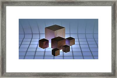 Cubes Framed Print by Mark Fuller