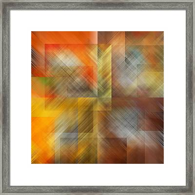 Framed Print featuring the photograph Cubic Space by Mark Greenberg