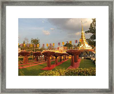 cubicles of Thai monk Framed Print by Knot Frazher