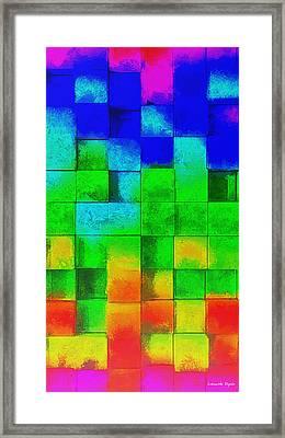 Cubism 2 - Pa Framed Print by Leonardo Digenio
