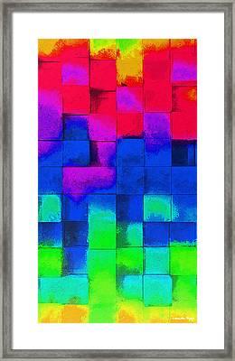 Cubism 4 - Da Framed Print by Leonardo Digenio