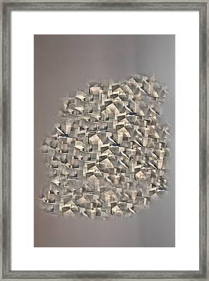 Cubism Framed Print by Angel Jesus De la Fuente