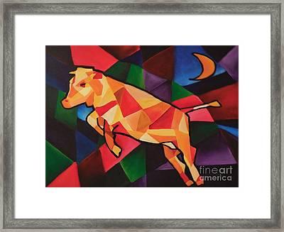 Cubism Cow Framed Print