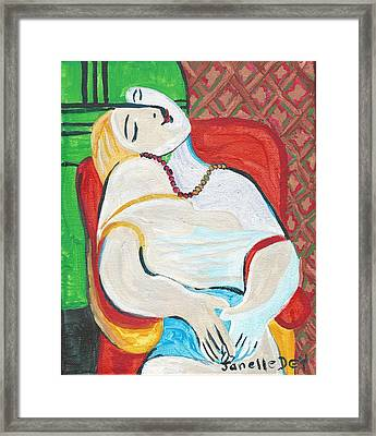 Framed Print featuring the painting Cubism by Janelle Dey