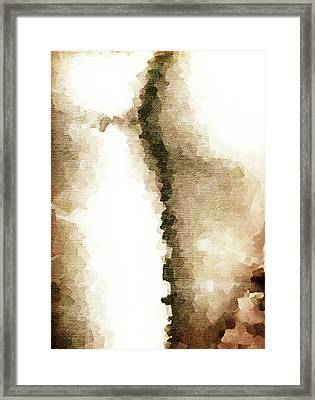 Cubist Back Framed Print by Andrea Barbieri