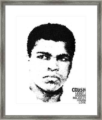 Cubist Muhammad Ali Framed Print by Andrea Barbieri