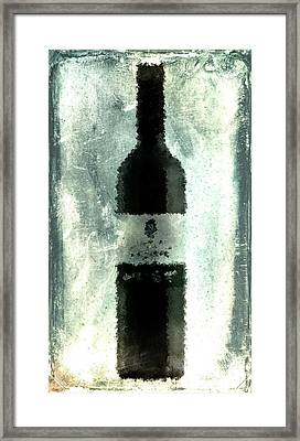 Cubist Red Wine Framed Print by Andrea Barbieri