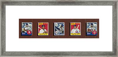 Cubs Card Collection Framed Print
