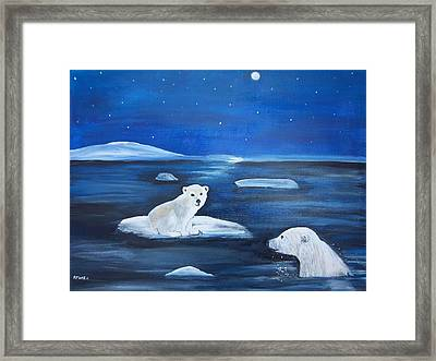 Cubs Free Ride Framed Print by Aleta Parks