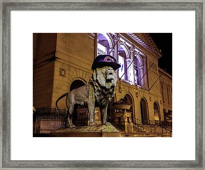 Cubs Lion Hearts Framed Print by Britten Adams
