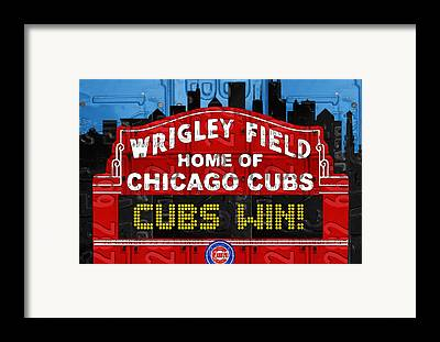 Chicago Cubs Framed Prints