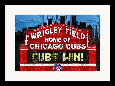 Chicago Cubs Art Framed Prints