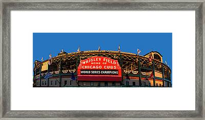 Cubs World Series Champs Framed Print by Andrew Soundarajan