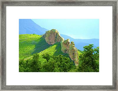 Framed Print featuring the photograph Cuchara Ridge by Marie Leslie
