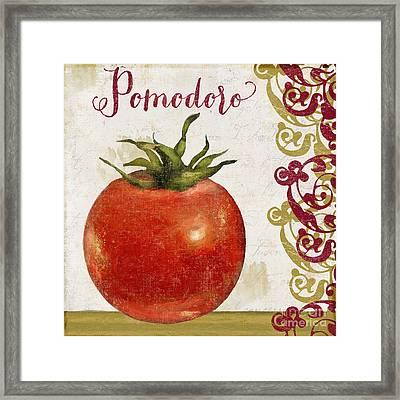 Cucina Italiana Tomato Pomodoro Framed Print by Mindy Sommers