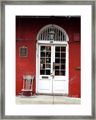 Cucullo Row Historic Marker Framed Print by John Rizzuto