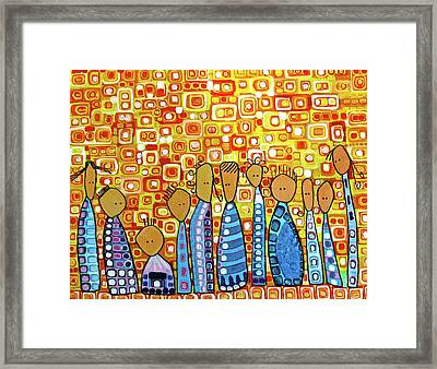 Framed Print featuring the painting cue by Donna Howard