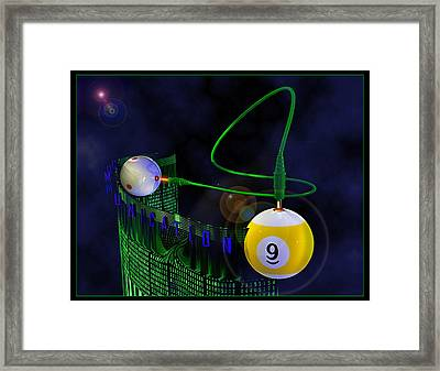 Cuemunication Framed Print by Draw Shots