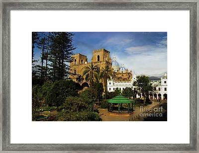 Cuenca Is A World Heritage Site Framed Print by Al Bourassa