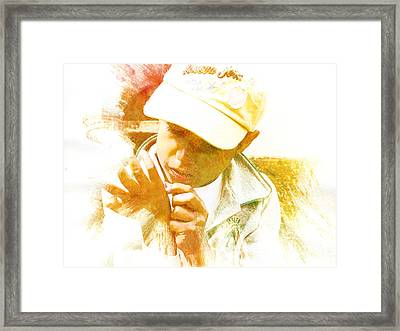 Cuenca Kid 902 - Adinea Framed Print by Al Bourassa