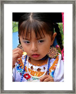 Cuenca Kids 616 Framed Print by Al Bourassa