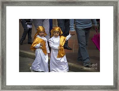 Cuenca Kids 644 Framed Print by Al Bourassa