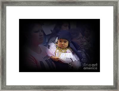 Cuenca Kids 650 Painting Framed Print by Al Bourassa