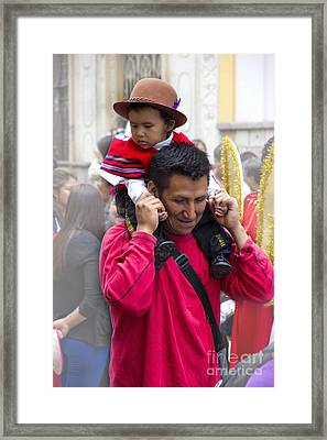 Cuenca Kids 651 Framed Print by Al Bourassa