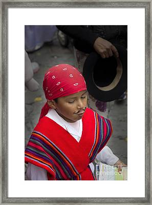 Cuenca Kids 653 Framed Print by Al Bourassa