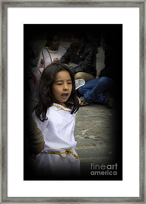 Cuenca Kids 655 Framed Print by Al Bourassa