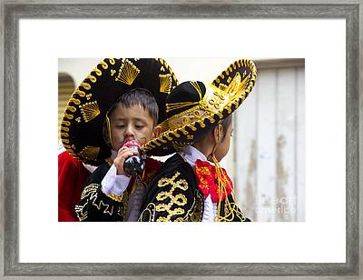 Cuenca Kids 680 Framed Print by Al Bourassa