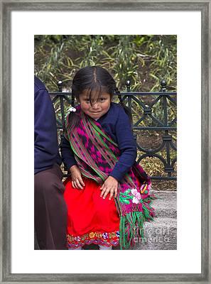 Cuenca Kids 687 Framed Print by Al Bourassa