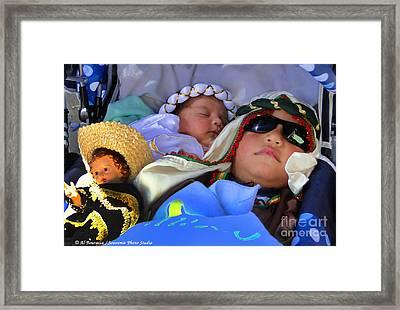 Cuenca Kids 703 Framed Print by Al Bourassa