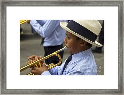 Cuenca Kids 723 Framed Print by Al Bourassa