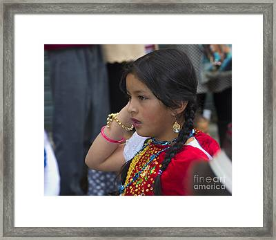Cuenca Kids 738 Framed Print by Al Bourassa
