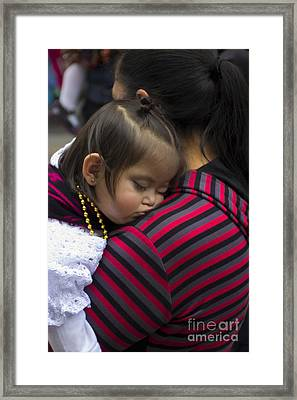 Cuenca Kids 741 Framed Print by Al Bourassa
