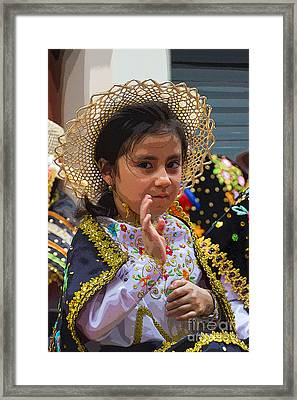 Cuenca Kids 744 Framed Print by Al Bourassa