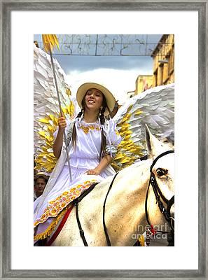 Cuenca Kids 747 Framed Print by Al Bourassa