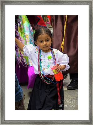 Cuenca Kids 768 Framed Print by Al Bourassa