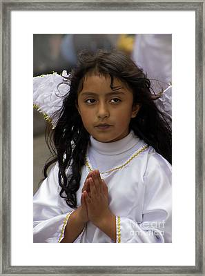 Cuenca Kids 830 Framed Print by Al Bourassa